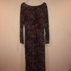 Long Sleeve Autumn Floral Dress